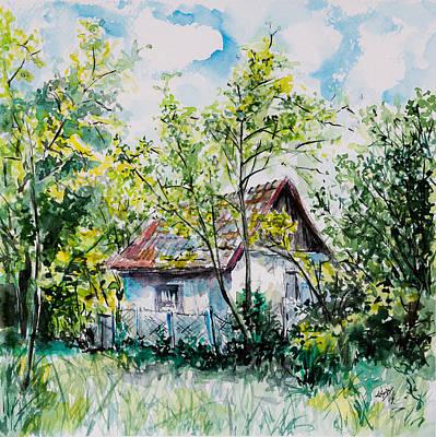 Spring House Painting - Farm by Kovacs Anna Brigitta