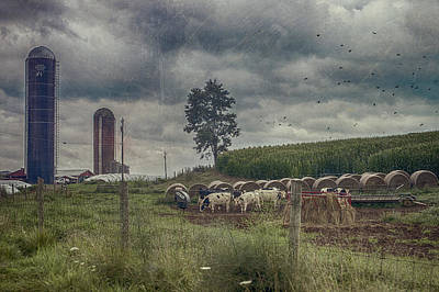 Farm Landscape Art Print by Kathy Jennings