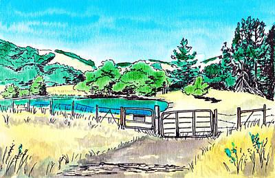 Farm Landscape Art Print by Masha Batkova