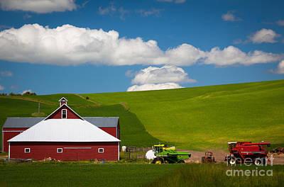 Machinery Photograph - Farm Machinery by Inge Johnsson