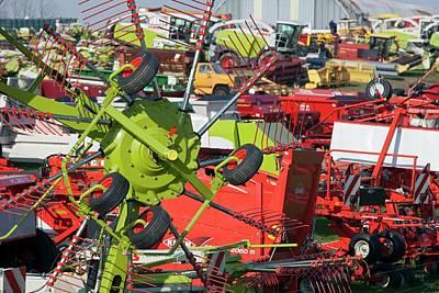 Machinery Photograph - Farm Machinery by Jim West