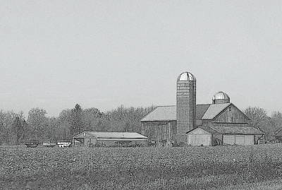 Farm Of Newaygo County Michigan Print by Rosemarie E Seppala