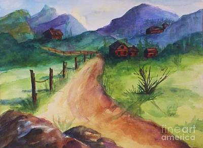 Painting - Farm-on A Country Road by Ellen Levinson
