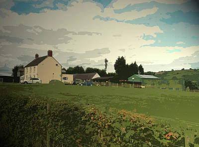 Farm On Kniveton Lane, Situated At The Extreme South West Art Print