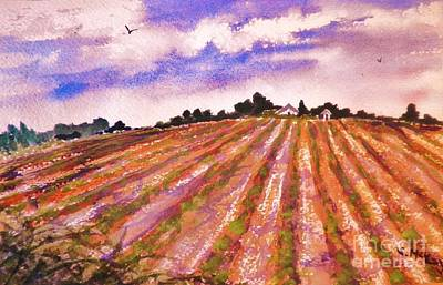 Painting - Farm On The Hill by Suzanne McKay