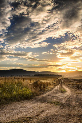 Haying Photograph - Farm Road by Jess Williams