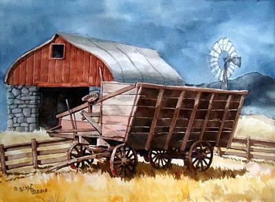 Old Farm Equipment Painting - Farm Shapes by Dan Krapf