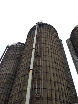 Photograph - Farm Silos In Winter by Elizabeth King
