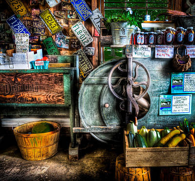 Farm Stand Two Art Print by Ercole Gaudioso