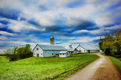 Farm - Barns - Silos - Farm Time Art Print by Barry Jones