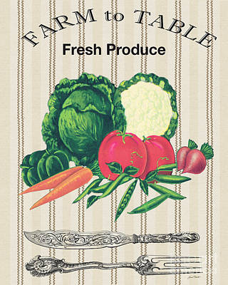 Farm To Table-jp2124 Original by Jean Plout
