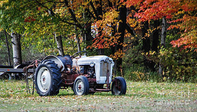 Photograph - Farm Tractor by Grace Grogan