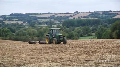 Farm Tractor Art Print by John Williams