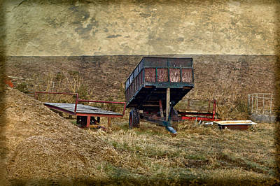 Photograph - Farm Trailers by Liz  Alderdice