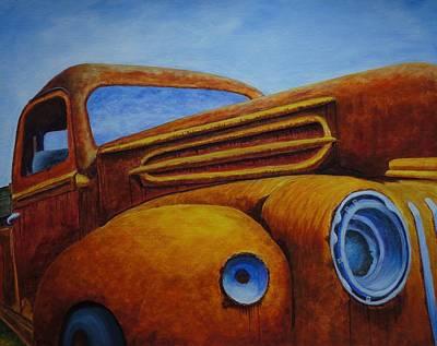 1940s Trucks Painting - Farm Truck by Xochi Hughes Madera