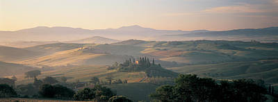 Misty Hills Farm Photograph - Farm Tuscany Italy by Panoramic Images