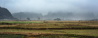 Photograph - Farm Village 1 by Afrison Ma