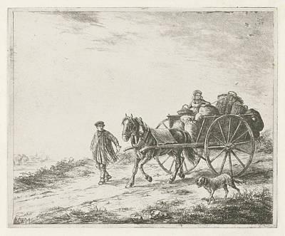 Wagon Wheels Drawing - Farm Wagon With Load, Christiaan Wilhelmus Moorrees by Christiaan Wilhelmus Moorrees