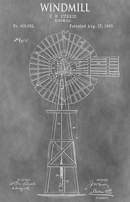 Farm Windmill Patent Art Print