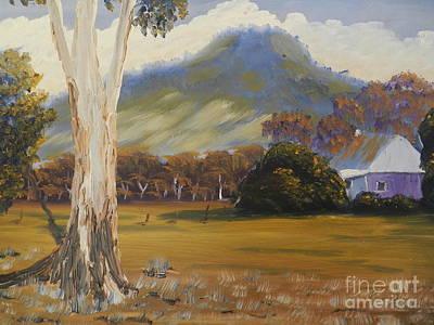 Farm With Large Gum Tree Art Print