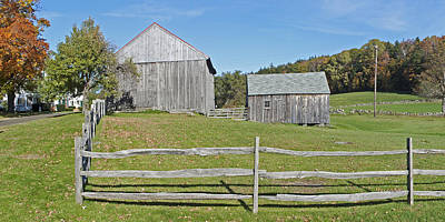 Photograph - Farm With Split Rail Fence 1 Of 2 by Gregory Scott