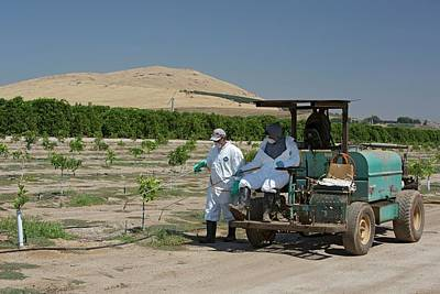 Agronomy Photograph - Farm Workers Applying Pesticide by Jim West