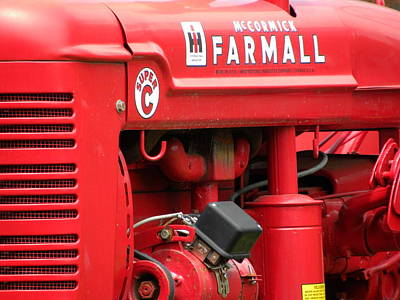 Farmall Art Print by Jewels Blake Hamrick