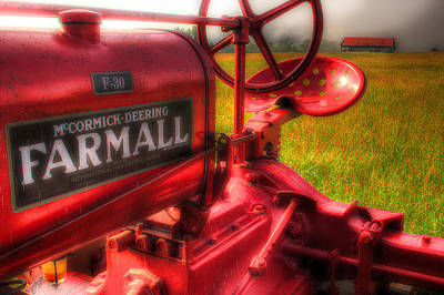 Farmall Morning Art Print