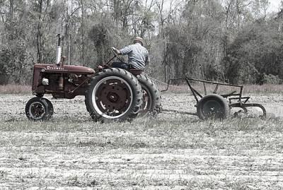 Farmall Super C Plowing Original