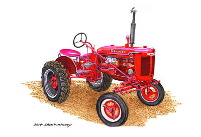 Mechanization Painting - Farmall Tractor 1946 Model A by Jack Pumphrey