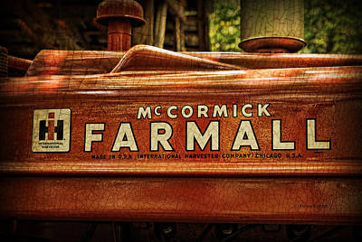 Farmall Tractor Art Print by Kenny Francis