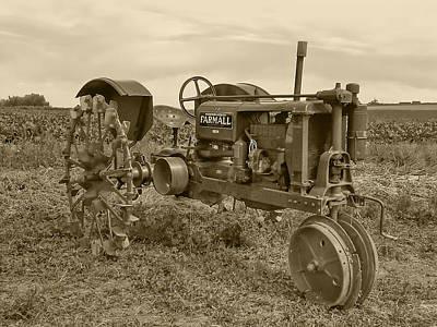 Photograph - Farmall Tractor Sepia Tone by Ken Smith