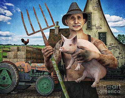 Digital Art - Farmer Looking For A Wife by Jutta Maria Pusl