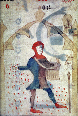 Sowing Painting - Farmer Sowing, C1475 by Granger