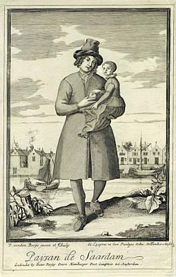 Farmer Zaandam, The Netherlands, Pieter Van Den Berge Art Print by Pieter Van Den Berge