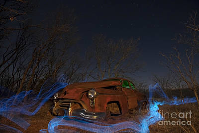 Special Effects Photograph - Farmers Limo by Keith Kapple