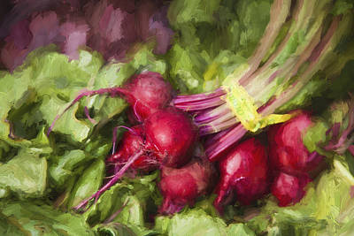Farmers Market Digital Art - Farmers Market Beets by Carol Leigh