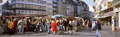 Marketplace Photograph - Farmers Market, Bonn, Germany by Panoramic Images