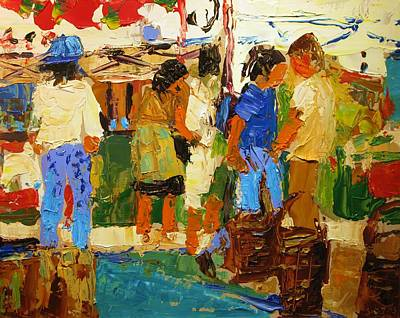 Painting - Farmer's Market by Brian Simons