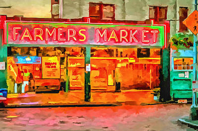 Photograph - Farmers Market by CarolLMiller Photography