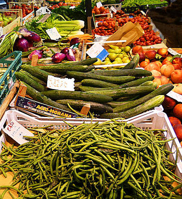 Thanksgiving Art Photograph - Farmers Market Florence Italy by Irina Sztukowski