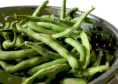 Photograph - Farmers Market Green Beans by Ann Powell