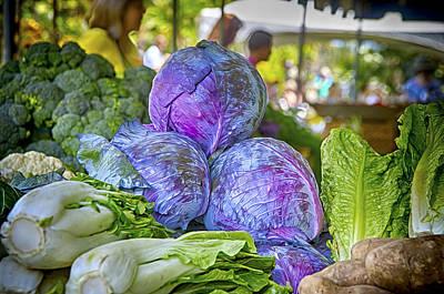 Broccoli Digital Art - Farmers Market by Gregory W Leary