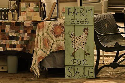Quilts For Sale Photograph - Farmers Market by Linda Dyer Kennedy