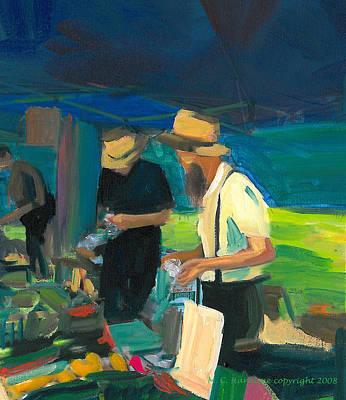 Painting - Farmer's Market by Mary C Haneline