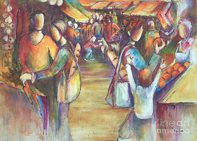Painting - Farmers Market by Sandra Taylor-Hedges