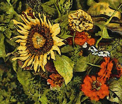 Farmers Market Sunflower Art Print
