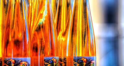 Jerry Sodorff Royalty-Free and Rights-Managed Images - Farmers Market Wine Bottles 19770 by Jerry Sodorff