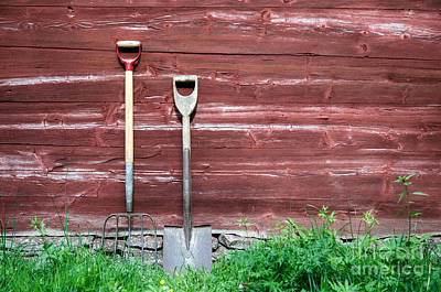 Photograph - Farmers Old Tools by Kennerth and Birgitta Kullman