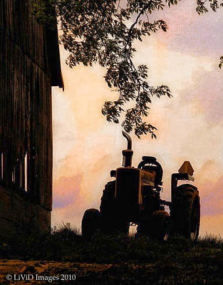 Farmers Sunset Art Print